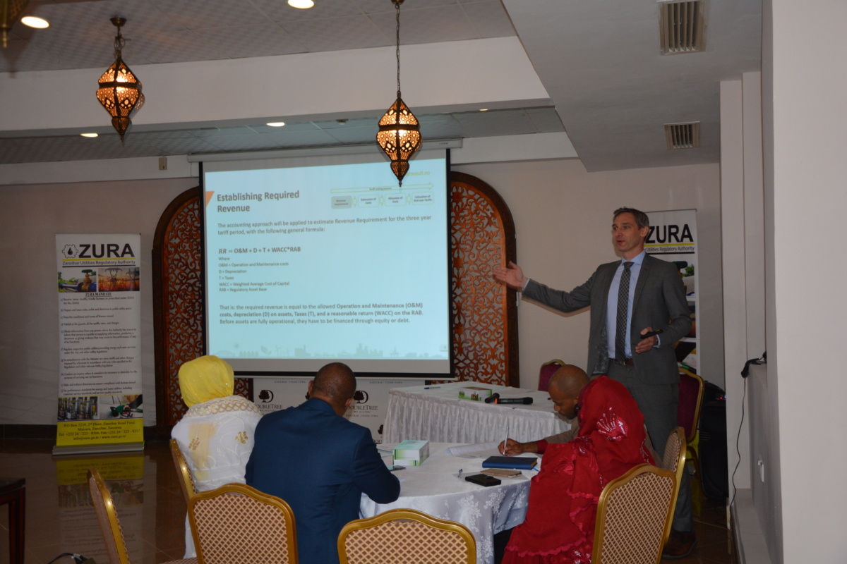 Zanzibar Utilities Regulatory Authority held a meeting with Stakeholders to discuss the Cost Of Service Study For Zeco Electricity Supply Service .