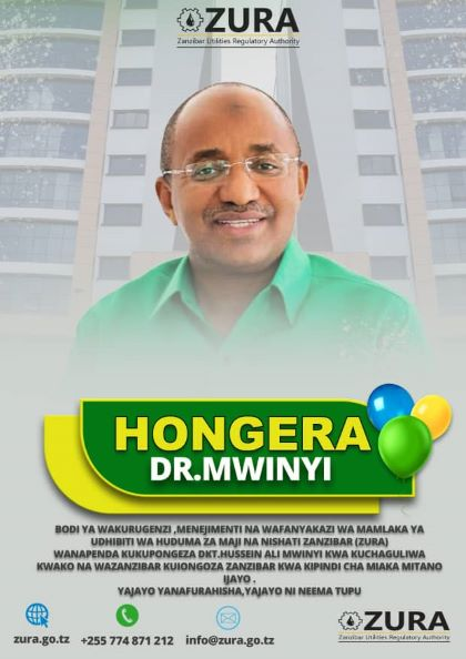 HONGERA DR. HUSSEIN ALI MWINYI